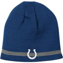 Reebok Indianapolis Colts Reversible Knit Hat with Grey Stripe One Size Fits All