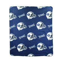 NFL Tennessee Titans Repeated Logo Fleece Throw, 50-inch by 60-inch