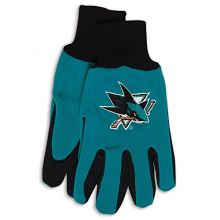 NHL San Jose Sharks Two-Tone Gloves, Green/Black