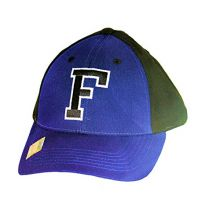 NCAA Officially Licensed Florida Gators Letter Logo Blue Black Baseball Style Hat Cap