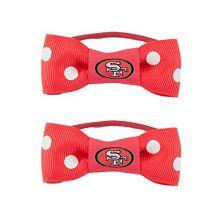 NFL Bow Pigtail Holder NFL Team: San Francisco 49ers