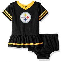 NFL Pittsburgh Steelers Baby-Girls 2-Piece Football Dress Set, Black, 6-12 Months