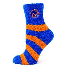 Donegal Bay NCAA Boise State Broncos Striped Fuzzy Socks, One Size, Blue