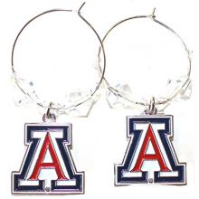 NCAA Officially Licensed Arizona Wildcats Beaded Hoop Earrings