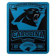 "NFL Carolina Panthers ""Marque"" Fleece Throw Blanket, 50"" x 60"""
