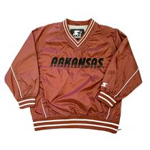 Starter NCAA Licensed Arkansas Razorbacks Youth Pullover Windbreaker Jacket (X-Small 4-5)