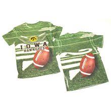 NCAA Licensed Iowa Hawkeyes Sublimation Performance YOUTH Shirt (Large 10/12)