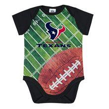 NFL Houston Texans Unisex-Baby Short-Sleeve Bodysuit, Black, 6 Months