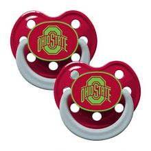 Baby Fanatic Ohio State Buckeyes Glow in The Dark 2 Pack Pacifiers