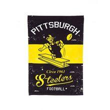 Team Sports America 14L3824VINT Pittsburgh Steelers Vintage Linen