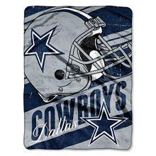 "NFL Dallas Cowboys ""Deep Slant"" Micro Raschel Throw Blanket, 46"" x 60"""