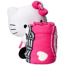 "NFL Green Bay Packers Hello Kitty Hugger Pillow & Fleece Throw Blanket Set, 40"" x 50"""