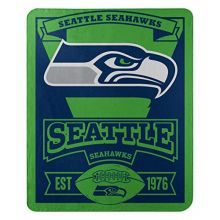 "NFL Seattle Seahawks ""Marque"" Fleece Throw Blanket, 50"" x 60"""