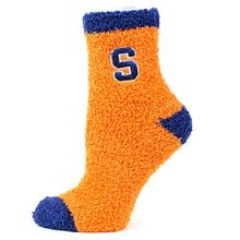 Donegal Bay NCAA Syracuse Orange Solid Fuzzy Socks, One Size, Blue