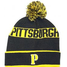 Donegal Bay Pittsburgh Embroidered P Letter Cuffed Pom Beanie Hat Cap Lid