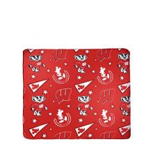 The Northwest Company NCAA Officially Licensed Mickey With Stars Fleece Throw Blanket (Wisconsin Badgers)