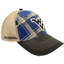 The Game West Virginia Mountaineers Plaid Adjustable Hat