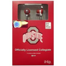 iHip Ohio State Buckeyes Earbuds Headphones