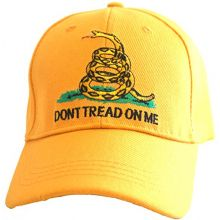 KYS Design Don't Tread On Me Yellow Adjustable Hat