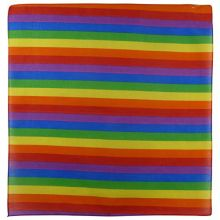 Unknown Men's 100% Cotton Rainbow Bandanna/Bandana Gay Pride Lgbt Bikers Scarf One Size Multi-Coloured