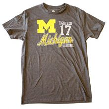 Knights Apparel Michigan Wolverines Licensed Dark Est 1817 T-Shirt (Large 42/44)