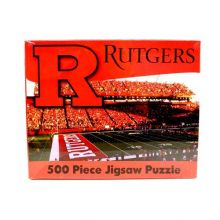 R and R Imports NCAA Rutgers Scarlet Knights Unisex 500-Piece Stadium Jigsaw Puzzle, Team Color, 500-Piece