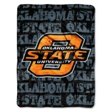 NCAA Oklahoma State Cowboys 46-Inch-by-60-Inch Micro-Raschel Blanket, Grunge Design