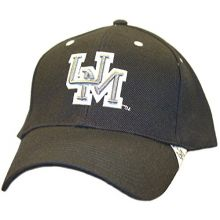 NCAA Officially Licensed Ole Miss Rebels Black Silver UM Logo Hat Cap Lid