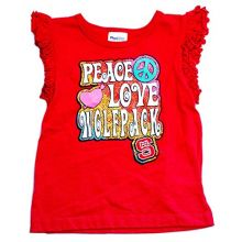 Bama NCAA Officially Licensed North Carolina State Wolfpack Girls Peace Shirt