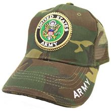 Army United States Camouflage Adjustable Hat