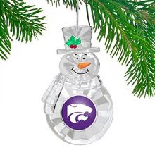 NCAA Kansas State Wildcats Traditional Snowman Ornament