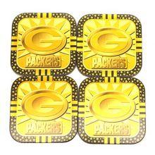 BBSports Green Bay Packers Elegant Metal Coaster Set