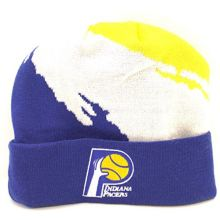 Golden State Warriors Cuffed Knit Hat with Pom by Mitchell & Ness KP19Z