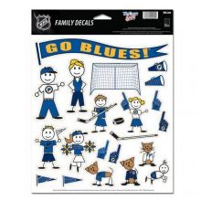 NHL Officially Licensed St. Louis Blues Team Family Decals