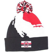 Mitchell & Ness Ottawa Senators NHL Vintage Paintbrush Cuffed Pom Beanie