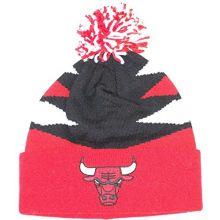 Mitchell & Ness Chicago Bulls Intimidate Cuff Pom Beanie