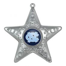 "Boelter Brands North Carolina Tar Heels 4"" Silver Star Ornament"