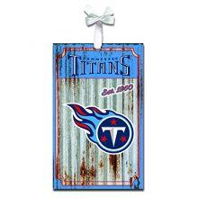 Team Sports America Tennessee Titans Corrugated Metal Ornament