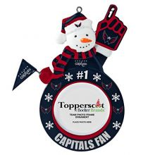 NHL Washington Capitals Snowman Frame Ornament