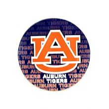 """Bama NCAA Officially Licensed Auburn Tigers Repeating Design 4"""" Round Magnet"""