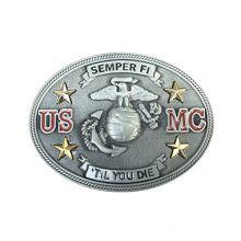 Belt Buckle Unique Limited Edition USMC Military Vintage Pewter U.S.Marine Corps