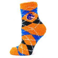 Donegal Bay NCAA Boise State Broncos Argyle Fuzyy Socks, One Size, Blue