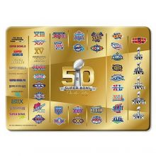 "NFL Licensed Super Bowl 50 Glass Cutting Board 8"" X 11"""