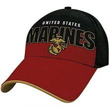 Officially Licensed Marines Block Logo Hat Cap Lid