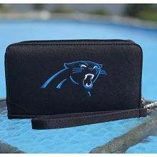 NFL Carolina Panthers Womens Deluxe Cell Phone Wallet with Embroidered Logo- Fits All Phones by Little Earth