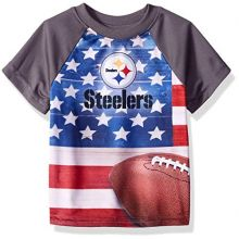 NFL Pittsburgh Steelers Unisex-Baby Short-Sleeve Tee, Gray, 12 Months