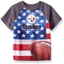 NFL Pittsburgh Steelers Unisex-Baby Short-Sleeve Tee, Gray, 12 Months