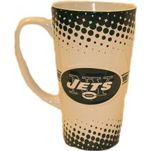 Boelter Brands NFL New York Jets Sculpted Latte Mug, 16-Ounce