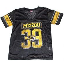 Knights Apparel NCAA Officially Licensed Missouri Mizzou Tigers Juniors Rhinestone Black #39 Jersey (Medium 7-9)