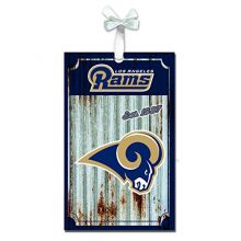 Team Sports America Los Angeles Rams Corrugated Metal Ornament